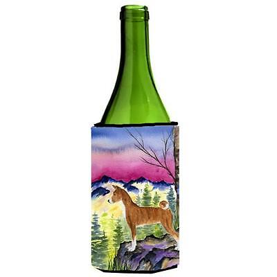 Carolines Treasures SS8371LITERK Basenji Wine bottle sleeve Hugger 24 oz.