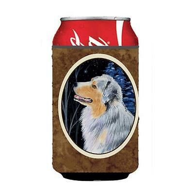 Carolines Treasures Starry Night Australian Shepherd Can Or bottle sleeve Hugger