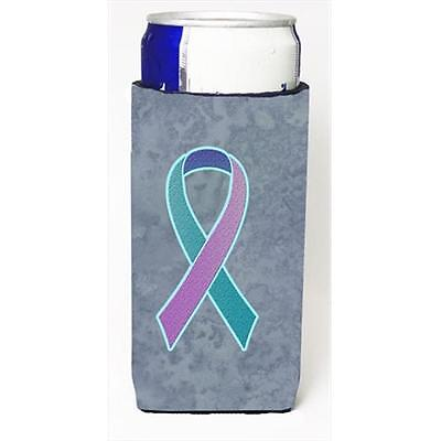 Teal Pink and Blue Ribbon for Thyroid Cancer Awareness Michelob Ultra bottle ...