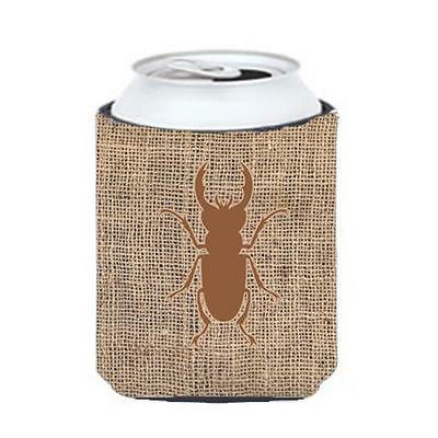 Carolines Treasures BB1063-BL-BN-CC Beetle Burlap And Brown Can Or Bottle Hugger