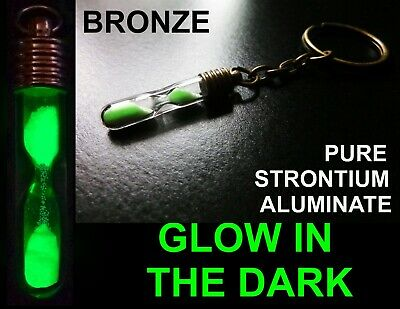 Glow In The Dark Hour Glass / Sand Timer!! Keyring / Key chain Miniature LOOK!
