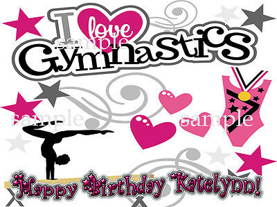 GYMNASTICS Edible ICING Image CAKE Topper Personalized Decoration Free Shipping