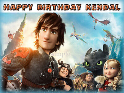 How to Train Your DRAGON Edible ICING Image CAKE Topper Personalized Decoration