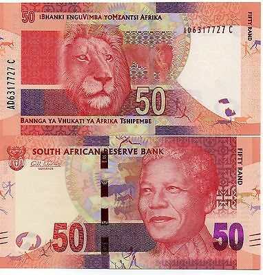SOUTH AFRICA 50 Rand UNC 2012 p-135