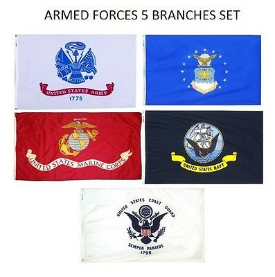 Wholesale Lot 2x3 ft 5 Branches Military Set Flags 2'x3' Banner Grommets