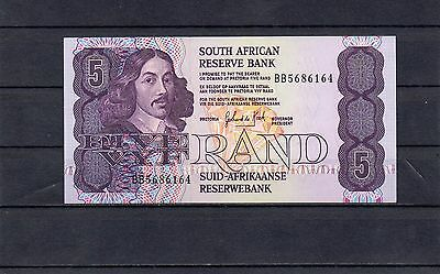 SOUTH AFRICA 5 Rand UNC 1989-1990 p-119d sign 6