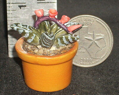 Yard Dollhouse Miniature Potted Resin Cactus 1:12 Scale KCAC004 Garden Patio