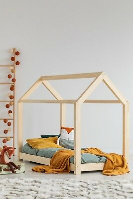 Children bed House Without Mattress 17 dimensions Kids Bed NEW NATURAL WOOD !