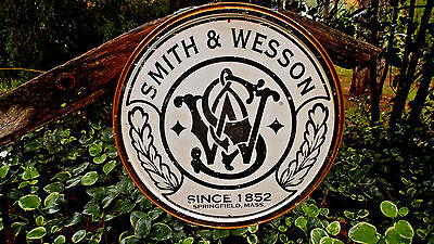 Vintage Signs Smith And Wesson Guns Rifles Ammunition Hunting Tin Metal Sign New