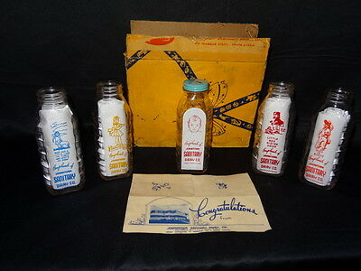 Johnstown Pa Sanitary Dairy Baby Bottles Five In Box With Paper Nos
