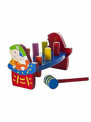 Wooden Hammer Toy Pounding Bench Pirate Design for Baby Toddler Kids Boys Girls