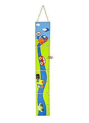 Kids or Baby Boys Car Height Chart Nursery Bedroom Wall Decoration
