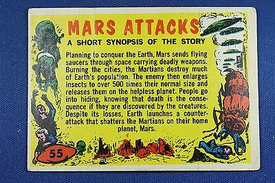 1962 Topps Bubbles - Mars Attacks - #55 Checklist (Clean) - VG/Exc. Condition