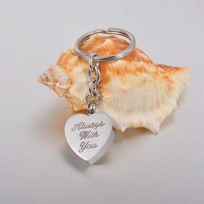 VALYRIA ALWAYS WITH YOU Heart Cremation Jewelry Keepsake Memorial Urn Key Chain
