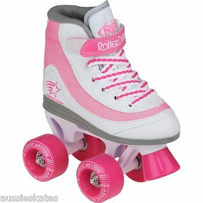 Roller Derby Firestar Kids Girls Pink Quad Roller Skates Us Size 3 FREE POST