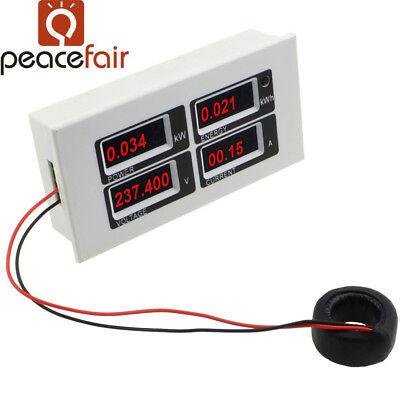 AC80-260V 100A Power Meter Monitor Voltmeter Ammeter Energy Meter With Serial Co