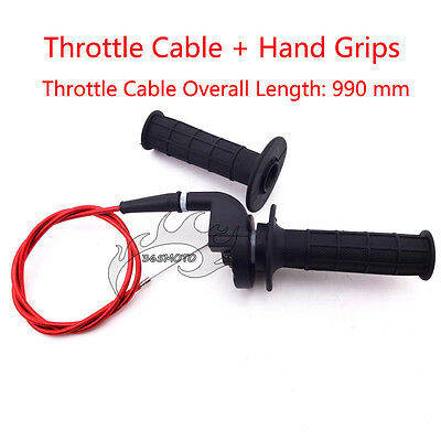 Twist Throttle Cable Hand Grips For Chinese 110 125 140 150 160cc Pit Dirt Bike