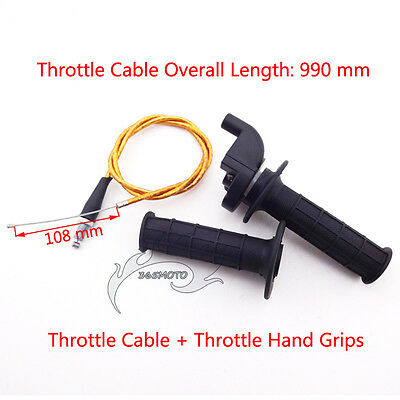 Handle Hand Grips Throttle Twist Cable For Chinese Pit Dirt Bike XR CRF 50 70