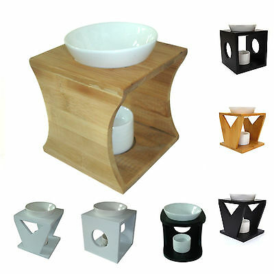 Oil Burner Fragrant Melts Essential Aromatherapy Wood Ceramic Modern Stylish