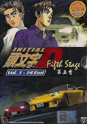 Initial D Fifth Stage Vol. 1-14 End Anime Dvd Boxset English Subtitles