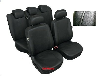 Black Eco Leather Full Set Tailored Seat Covers For Dacia Duster 2013 - onwards