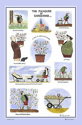 Tottering By Gently Tea Towel - The Pleasure of Gardening