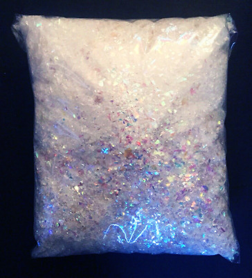 TWO PACKS Iridescent Artificial fake snow Glitter Putnam Twinkle Flakes