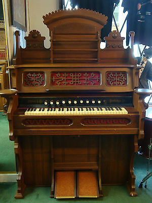 Antique J. Esty & Company Cabinet Pump Organ Piano - LOCAL PICKUP ONLY