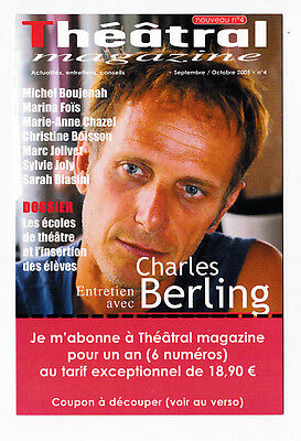 CHARLES BERLING  carte postale publicitaire