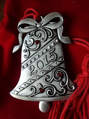 Avon 2015 Bell Pewter Ornament Source Of Fine Collectables Nib