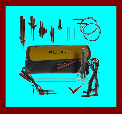 Fluke TLK287 Electronics Multimeter Accessory Set Leads Probes Clips USA made