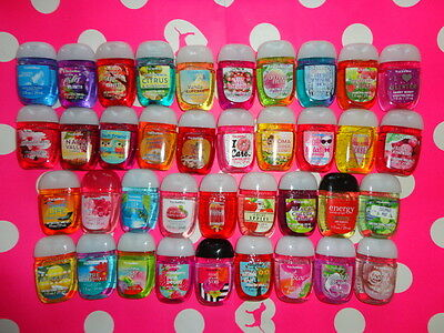 (10) Bath & Body Works PocketBac Sanitizer Random Mix Hand Gel NEW