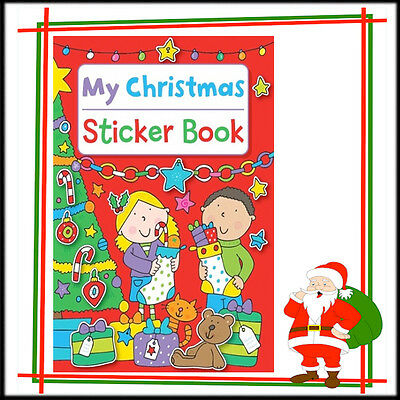 CHRISTMAS Colouring Book Kids ChildrenStickers Activity Fun PreSchool Picture A4
