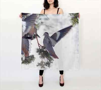 """Square Custom Made Silk Scarf 36""""x36"""" Title: """"Jostling for Position"""""""