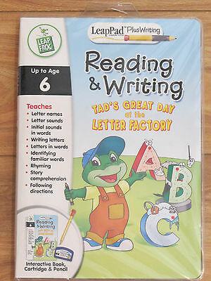 LEAPFROG NEW SEALED LeapPad Book,Game Cartridge,Pencil Reading & Writing Tad