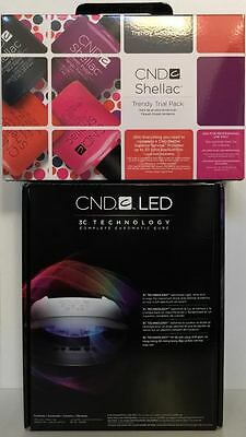 SALE! CND Shellac Set ~ LED LIGHT LAMP 9200 + TRENDY 15pc Power Polish Trial Kit