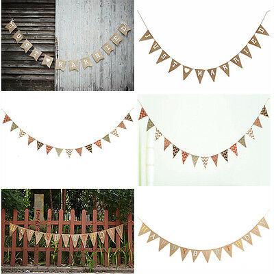Vintage Paper Christmas Wedding Engagement Birthday Bunting Banner Party Decor
