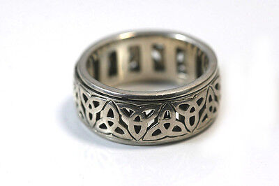 A801 Celtic Ring Sterling 925  8.1g size 9 IO C