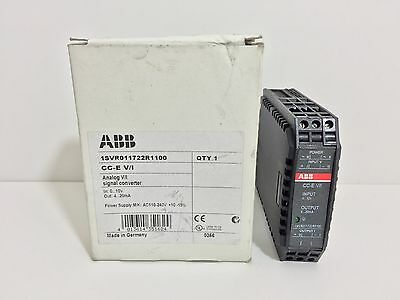 New! Abb Signal Converter 1Svr011722R1100 Cc-E V/i In 0-10V Out 4-20 Ma