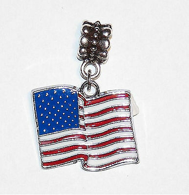 Anhänger Kette - USA Fahne - Amy Flag - Stars and Stripes - Pendant - Amerika