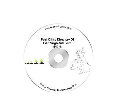 Post Office Directory Of Edinburgh And Leith 1940-41