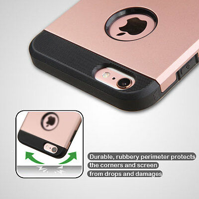 For Apple iPhone 6 S PLUS Hybrid ShockProof Protective Hard Case Cover Rose Gold