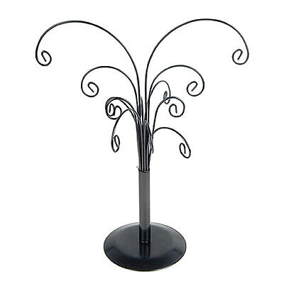 Black Iron Ornament Tree Detachable Display Holder Stand Organizer