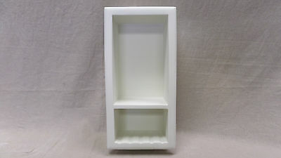 CorSolid Model 503 White Solid Surface Recessed Shower Soap/Shampoo Holder