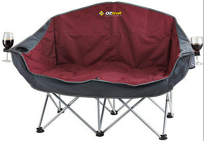 Oztrail Moon Chair ( Double ) 240Kg Limit Picnic Camp Outdoor Seat Portable