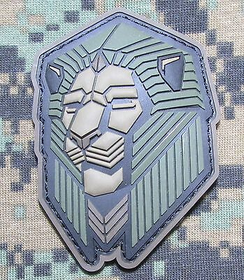 Industrial Lion Pvc Tactical Badge Morale Usa Military Forest Hook Patch Badge