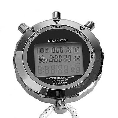 Digital Stopwatch Quartz Countup Timer Clock Timing for Athlete Gym Workout