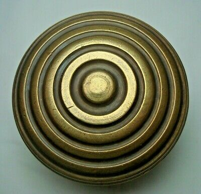 Antique rare solid brass pull & push door knob handle - D9