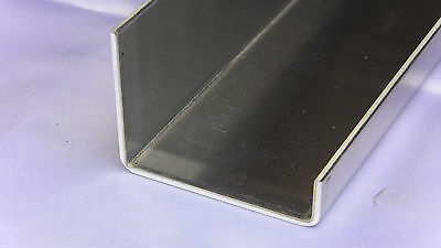 "Aluminum C-Channel Offset 2 1/4"" x 3"" x 3/4"" x 48"" long x 1/8"" thick, UAAC brand"
