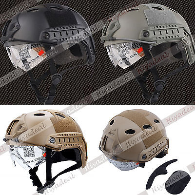 Military Gear With Goggle combat Helmet for airsoft outdoor Fast Helmet